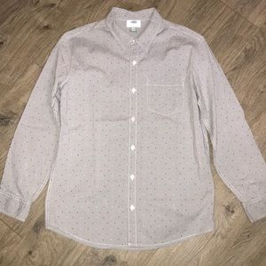 Old Navy, Blue dress shirts with colored dots